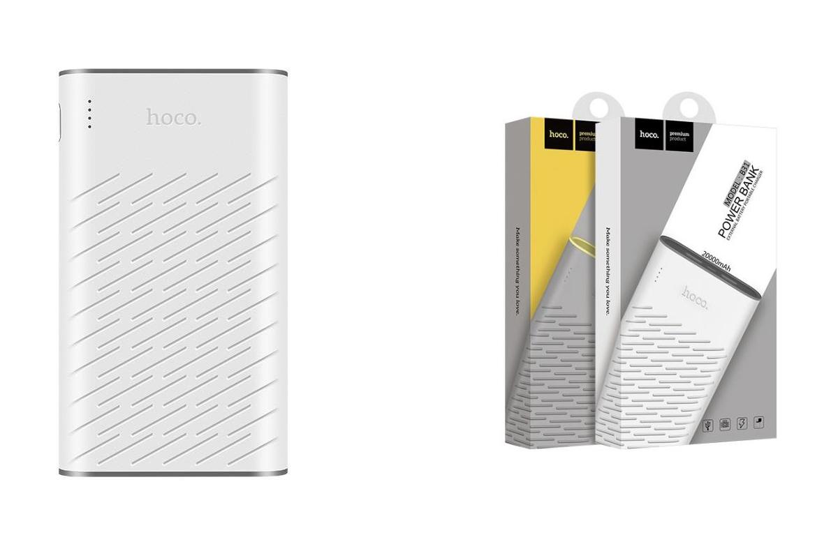 Универсальный дополнительный аккумулятор HOCO B31 Rege Bank 20000 mAh белый