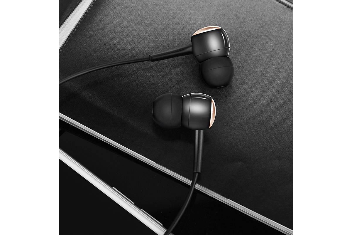 Гарнитура HOCO M19 Drumbeat 3.5мм черная
