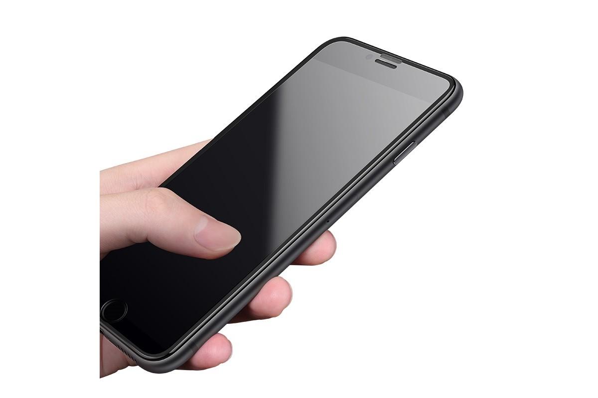 Защитное стекло дисплея iPhone 7/8 (4.7)  HOCO Narrow Edges 3D Full Screen HD tempered glass  черное