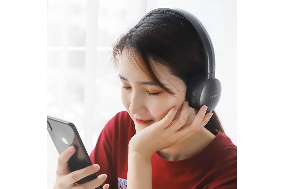 Беспроводные внешние наушники BO2 BOROFONE Fine move wireless headset серый