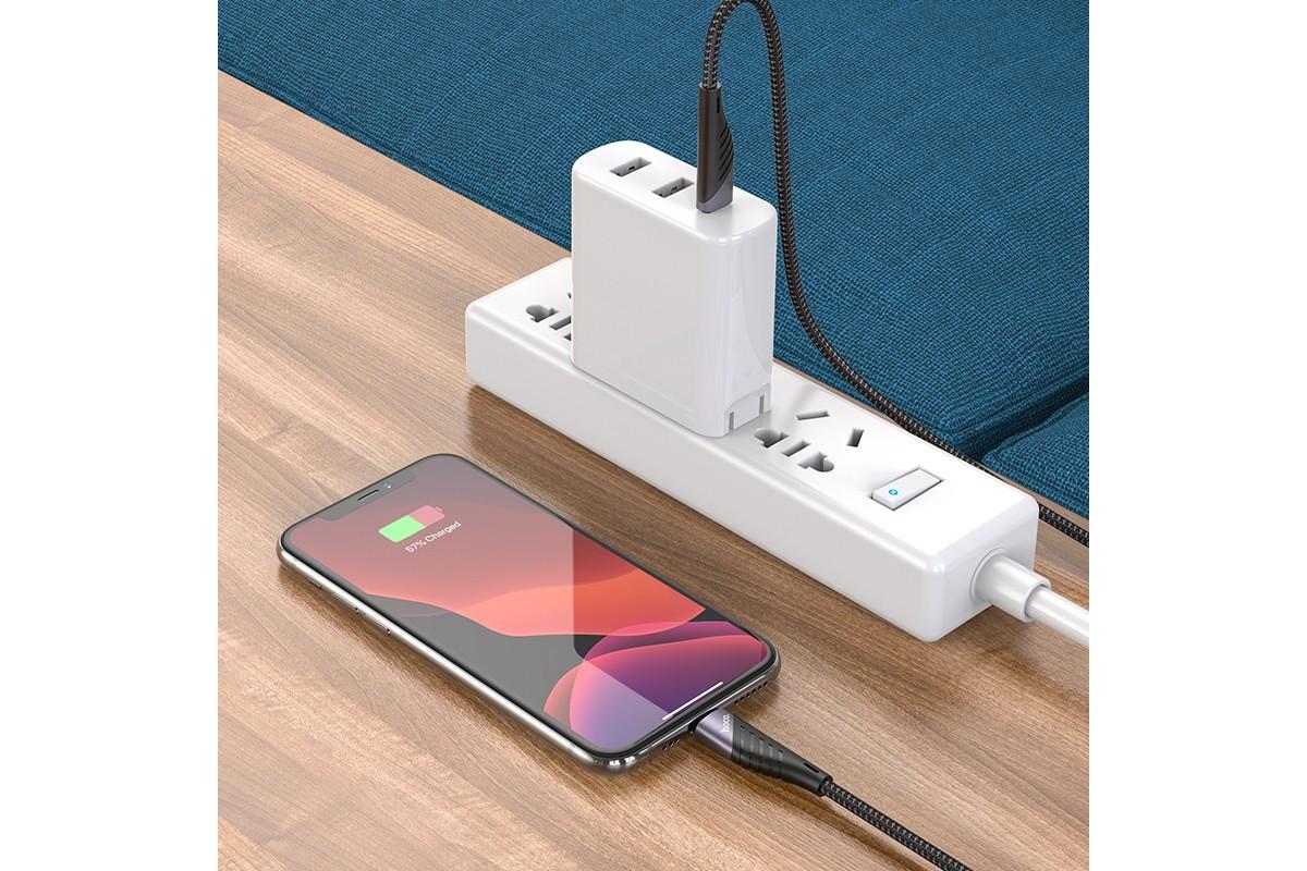 Кабель для iPhone HOCO U95 PD charging data cable ( Lightning ) черный