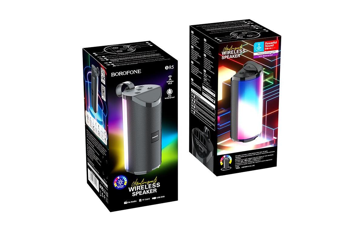 Портативная беспроводная акустика BOROFONE BR5 Adventure sports wireless speaker  цвет черный