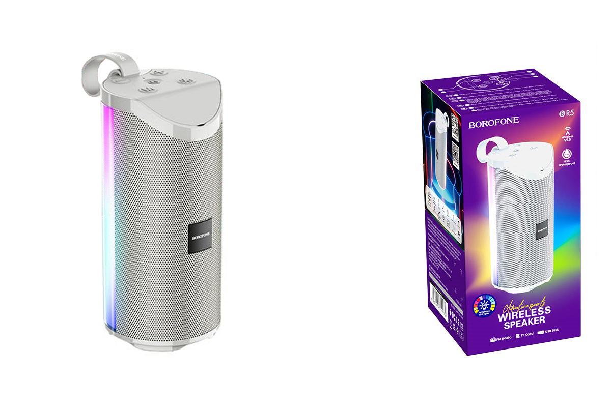 Портативная беспроводная акустика BOROFONE BR5 Adventure sports wireless speaker  цвет серый