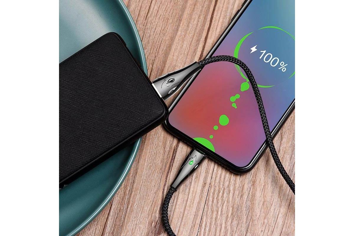Кабель USB micro USB HOCO U75 Blaze magnetic charging data cable for Micro (черный) 1 метр