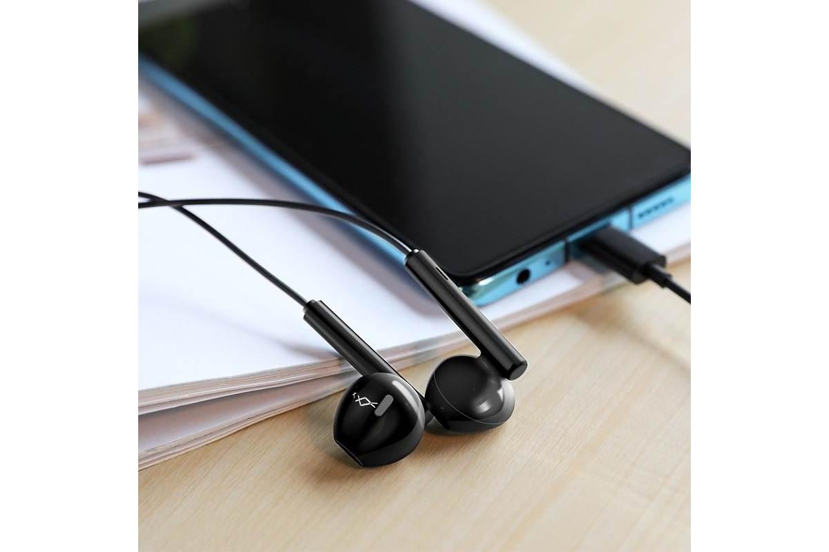 Гарнитура HOCO M65 Special sound Type-C wire control earphones черная