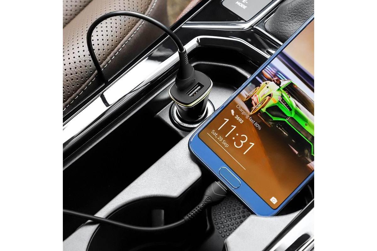 Автомобильное зарядное устройство 2USB HOCO Z31 Universe double port QC3.0 черный