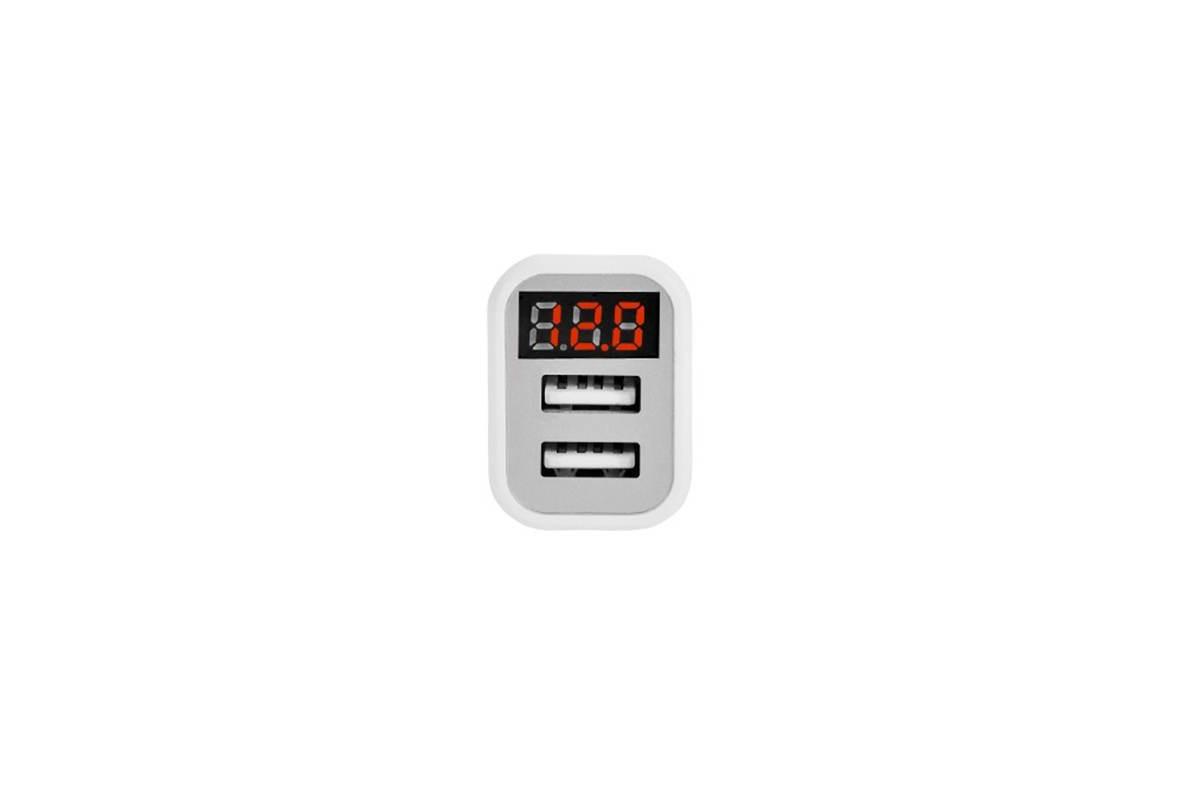 Автомобильное зарядное устройство 2USB HOCO Z3 5V/9V Fast Charging с контролем напряжения бортовой сети автомобиля 3100mAh белый
