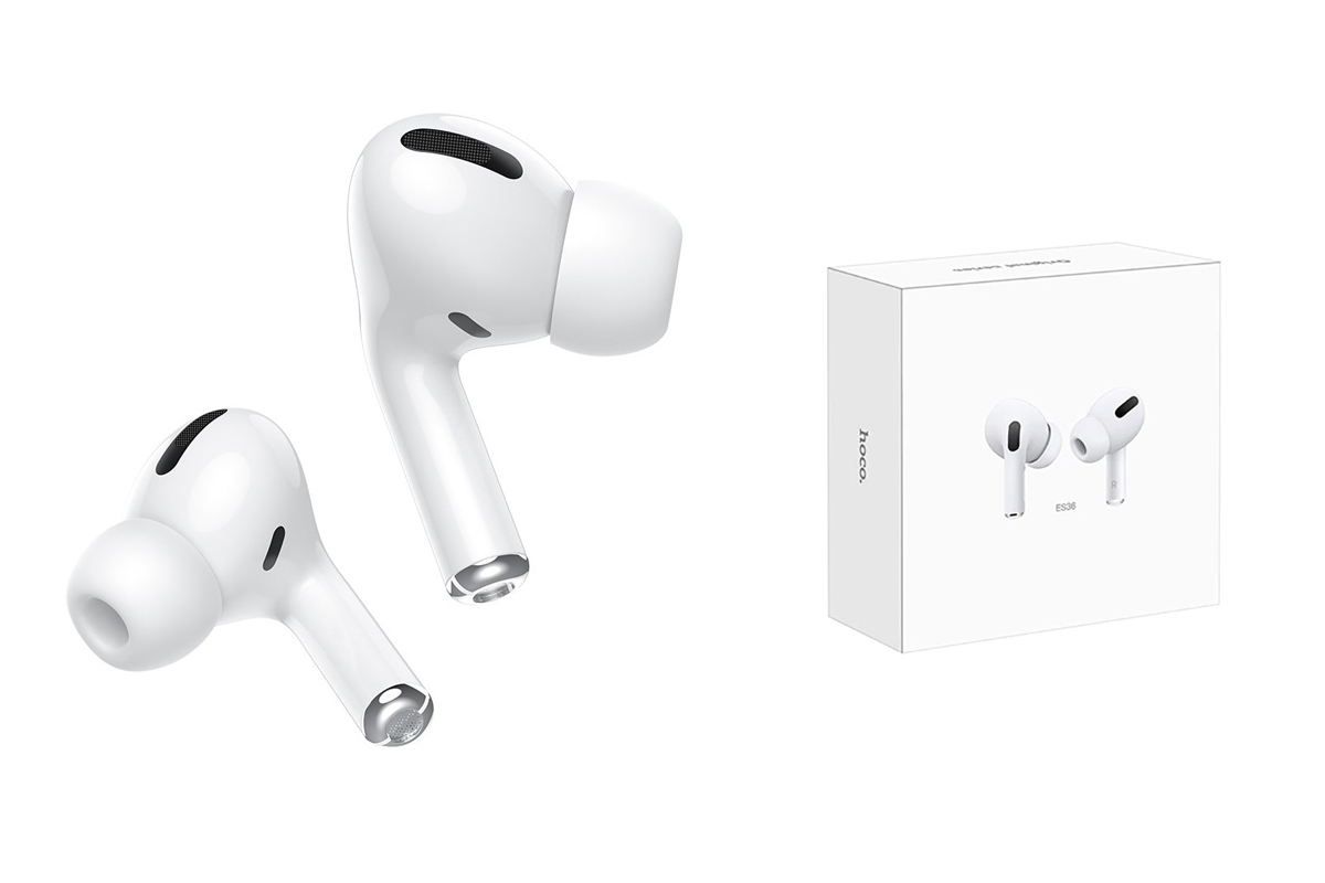 Bluetooth-гарнитура ES36 Original series apple generation 3 wireless headset  HOCO белая
