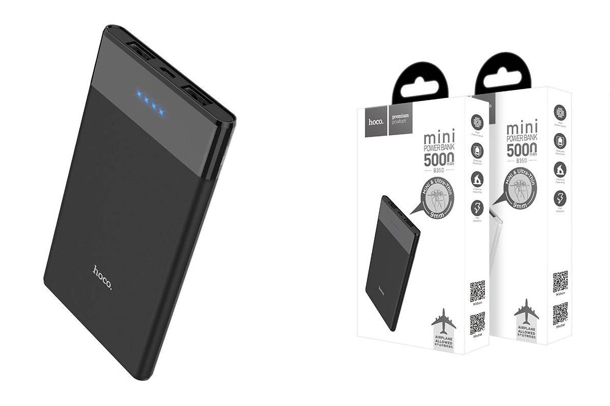 Универсальный дополнительный аккумулятор HOCO B35D Entourage mobile power bank(5000mAh) черный