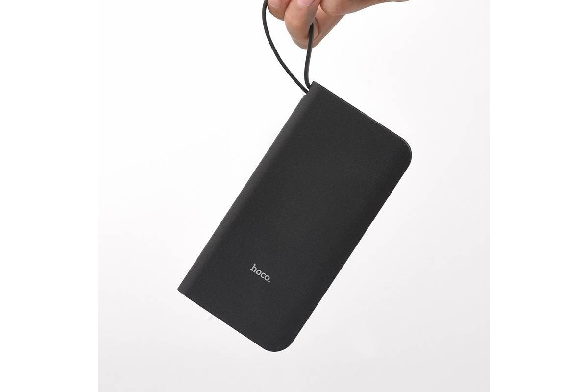 Универсальный дополнительный аккумулятор HOCO  J25 New power mobile power bank Lightning 10000 mAh черный