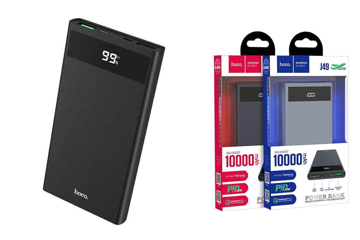 Универсальный дополнительный аккумулятор HOCO  J49 Jewel PD+QC3.0 mobile power bank(10000mAh) черный