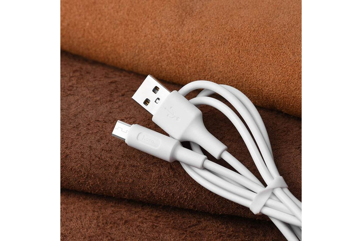 Кабель USB micro USB HOCO X25 Soarer charging data cable for Micro 1 метр белый
