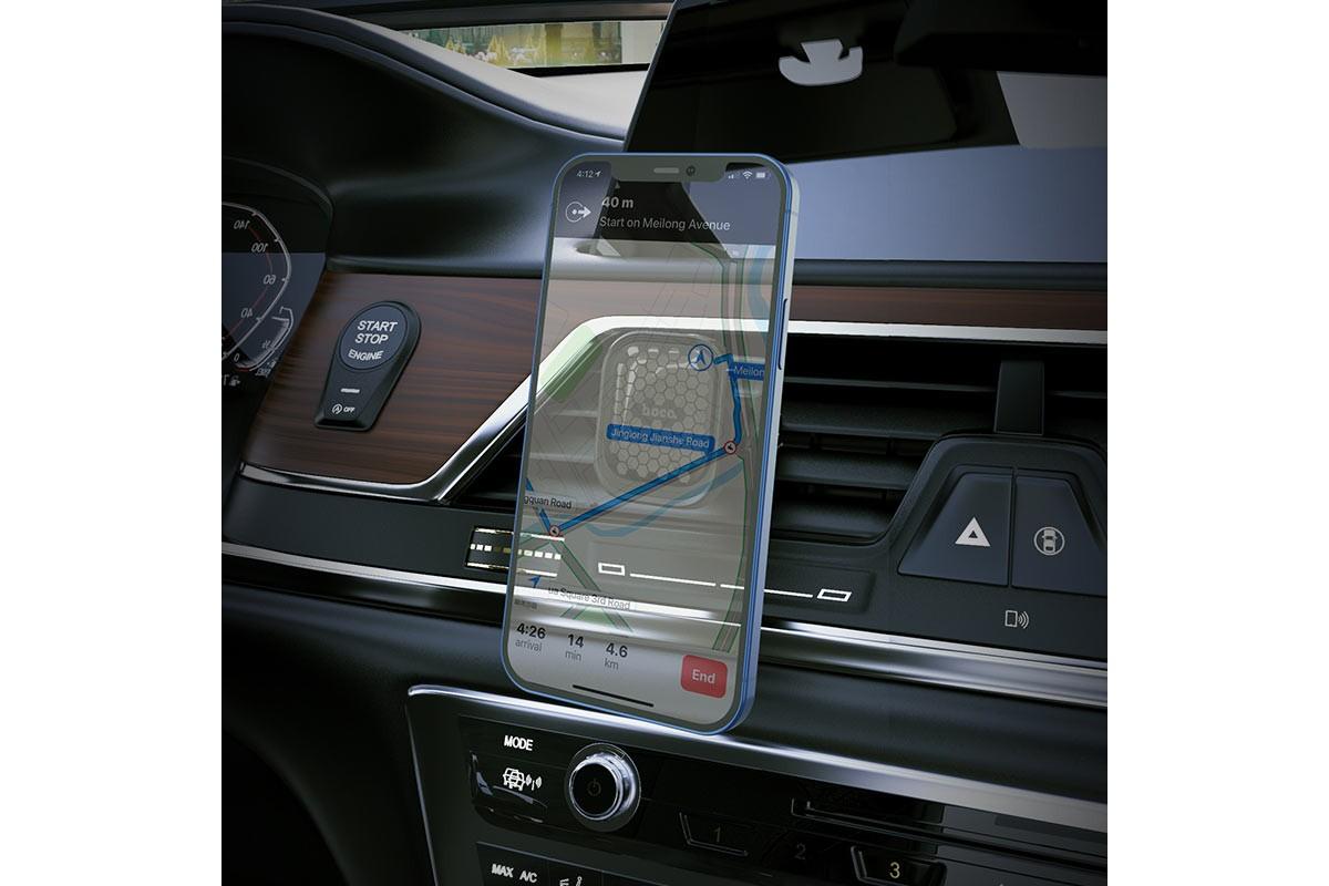 Держатель авто HOCO S49 Fuerte series air outlet magnetic car holder черный