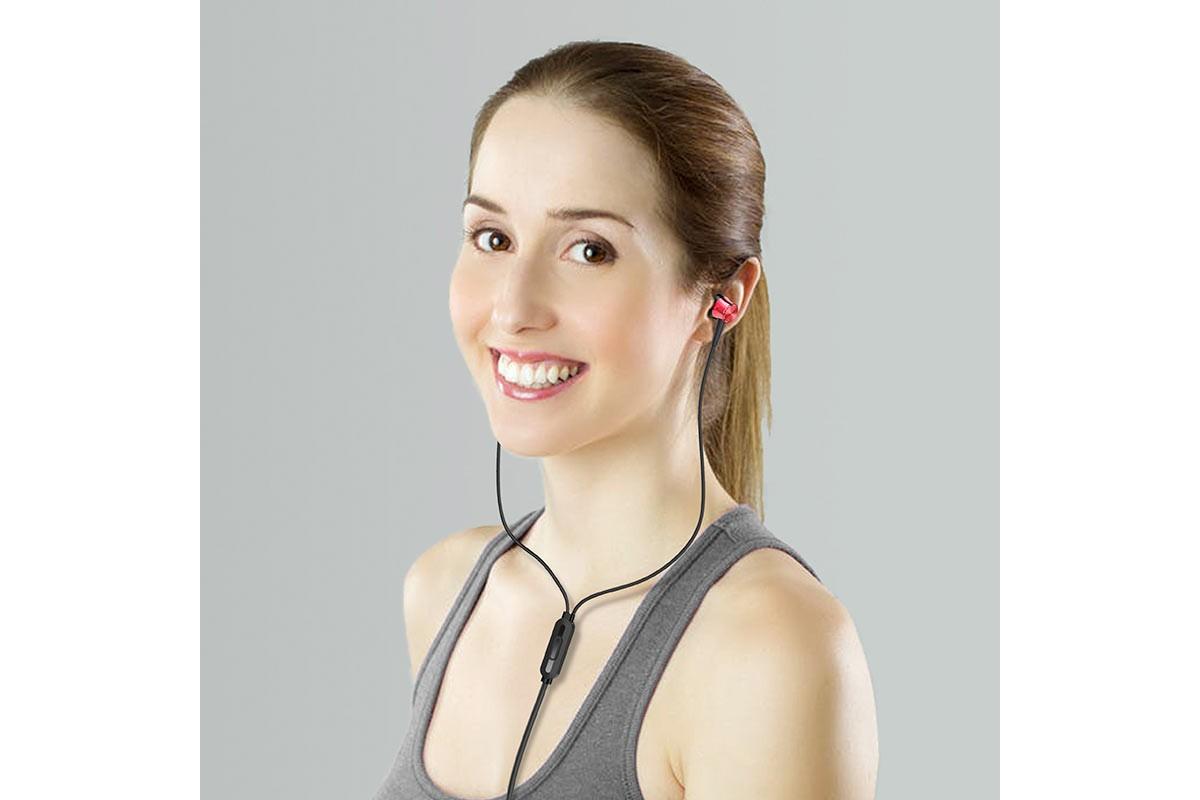 Гарнитура BOROFONE BM52 Revering universal earphones 3.5мм цвет красная