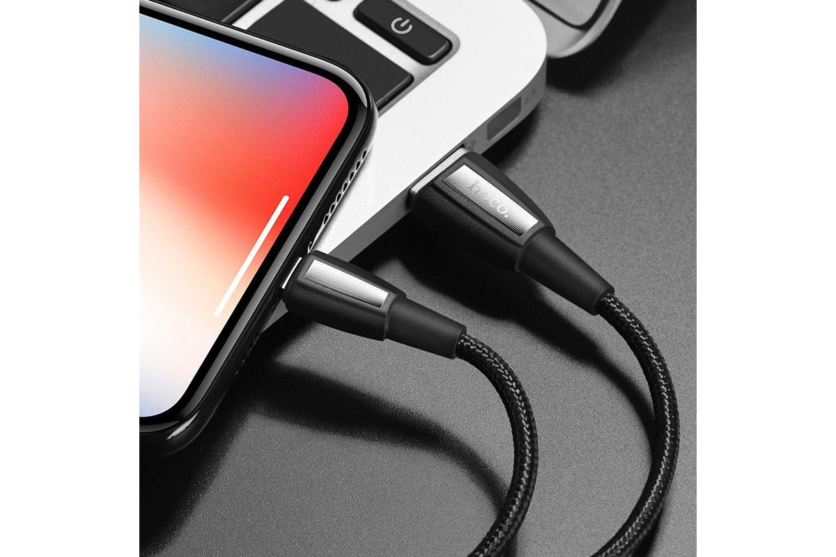 Кабель для iPhone HOCO X39 Titan charging data cable for Lightning 1м черный