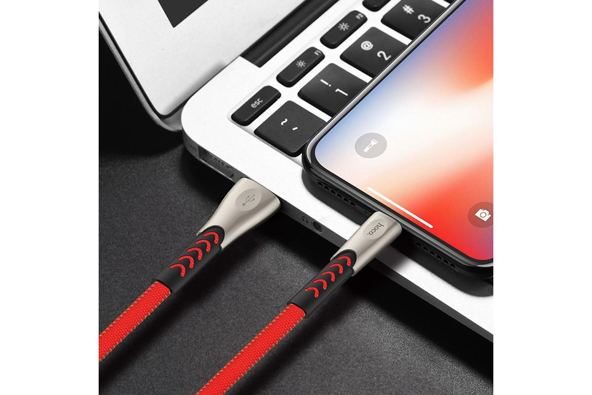 Кабель для iPhone HOCO U48 Superrior speed lightning charging cable 1м красный