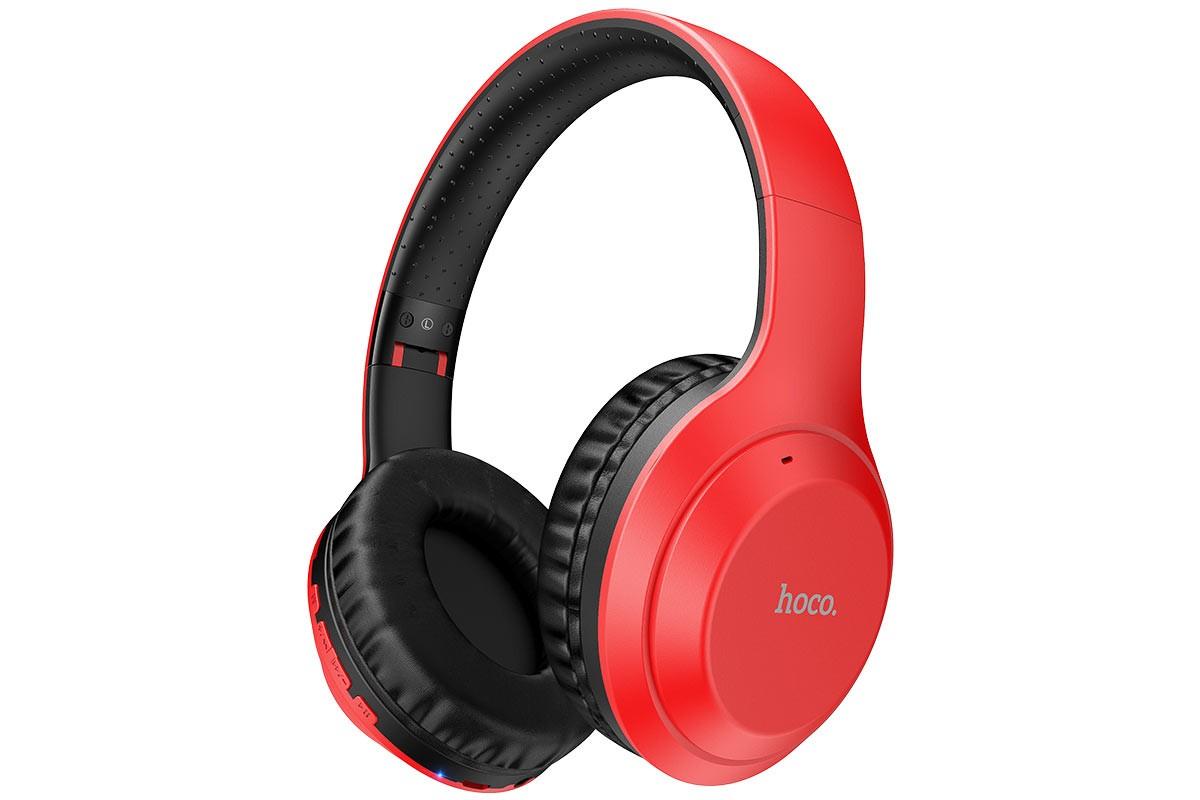 Беспроводные внешние наушники HOCO W30 Fun move BT wireless headphones красный