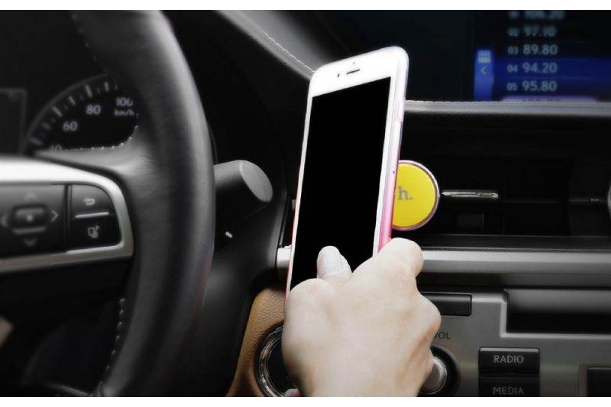 Держатель авто HOCO CA3 Outlet magnetic vehicle Holder черно-желтый