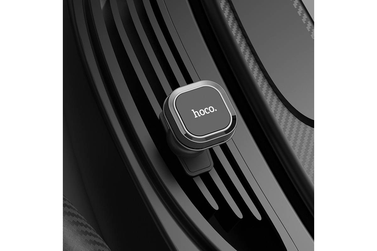 Держатель авто HOCO CA52 Intelligent air outlet in-car holder черный