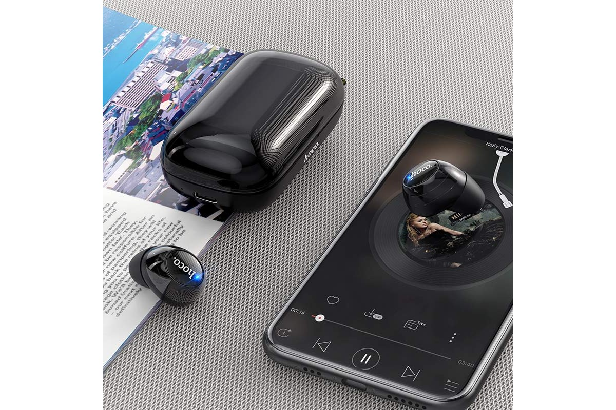 Bluetooth-наушники ES52 Delight TWS wiereless headset HOCO черная