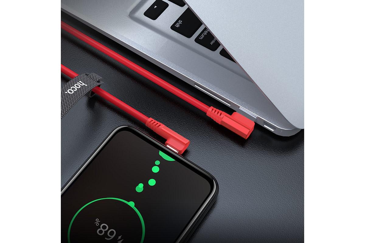 Кабель USB micro USB HOCO U83 Puissant charging cable for Micro (красный) 1 метр