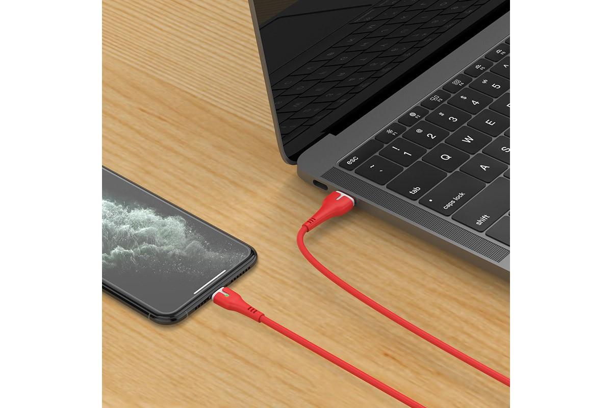 Кабель для iPhone HOCO X45 Surplus charging data cable for Lightning 1м красный