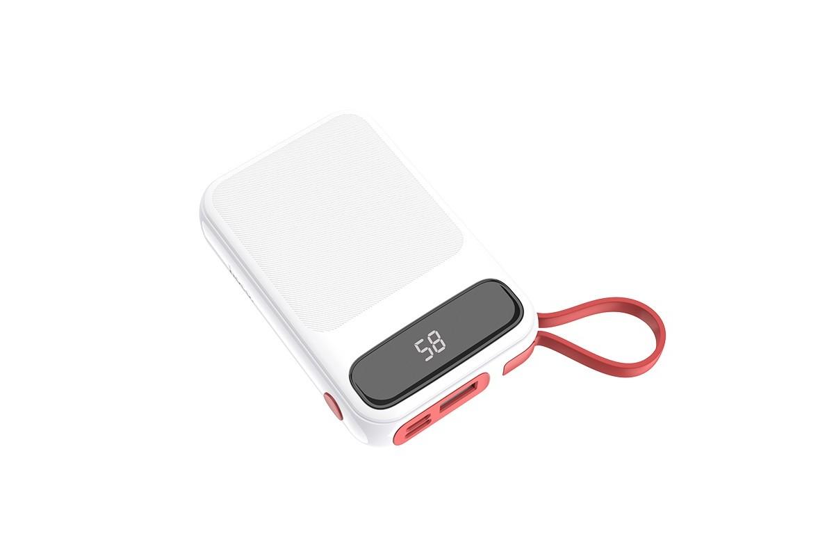 Универсальный дополнительный аккумулятор HOCO  J40 Powerful mobile power bank for Lightning (10000) белый