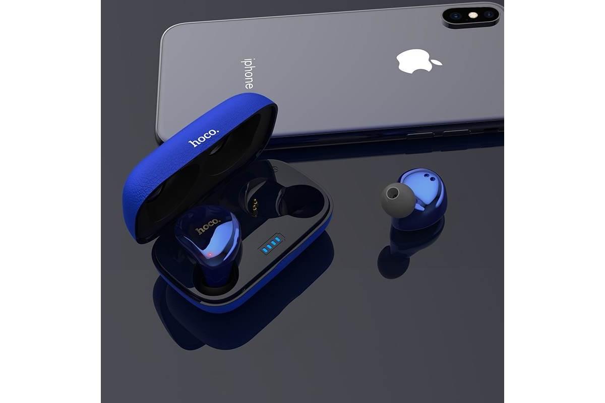 Bluetooth-гарнитура ES25 Easy talk wireless headset HOCO синяя
