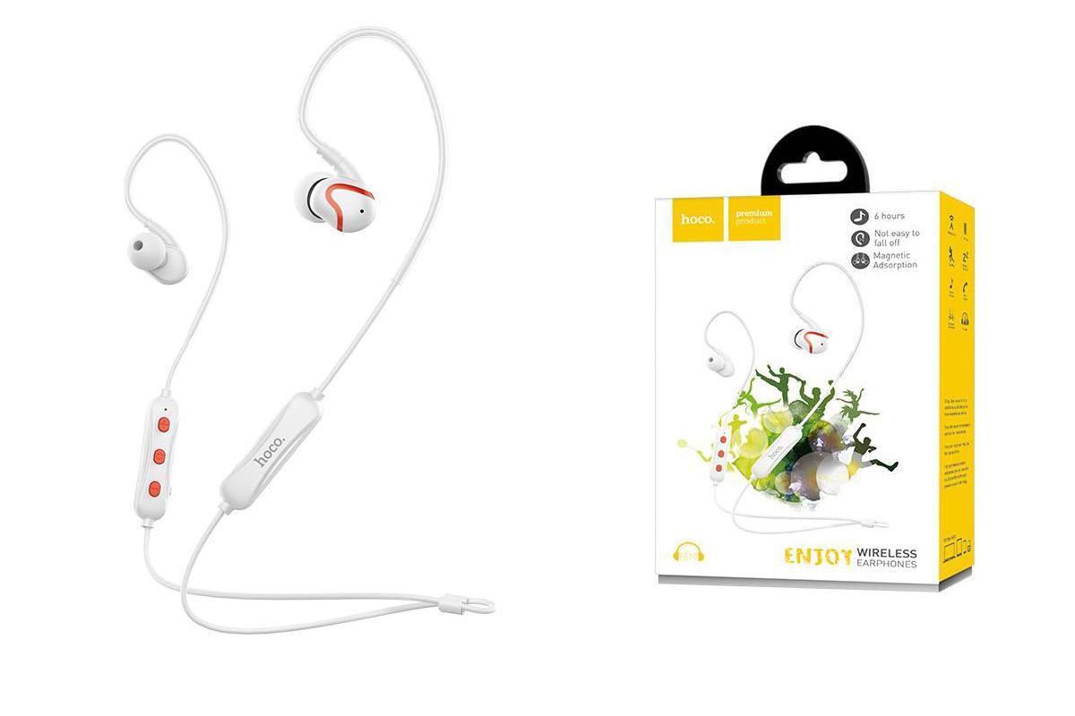 Bluetooth-гарнитура ES19 Joy sound sports wireless headset HOCO белая