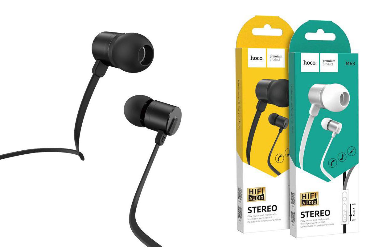 Гарнитура HOCO M63 Ancient sound earphones with mic черная