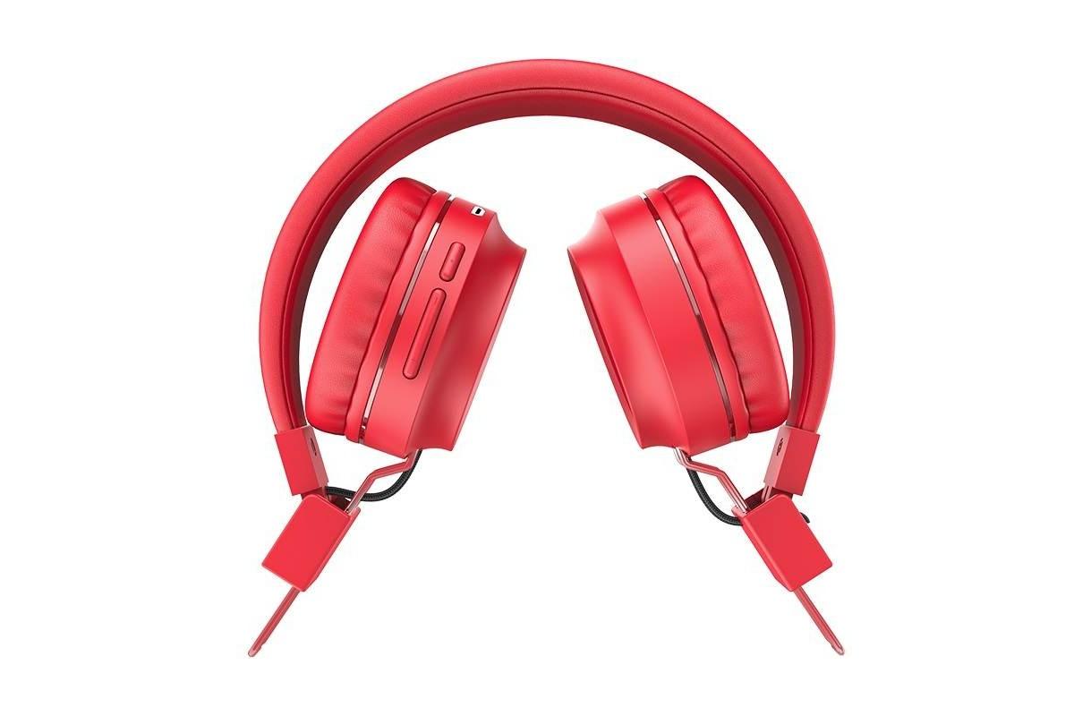 Беспроводные внешние наушники HOCO W25 Promise wireless headphones красный