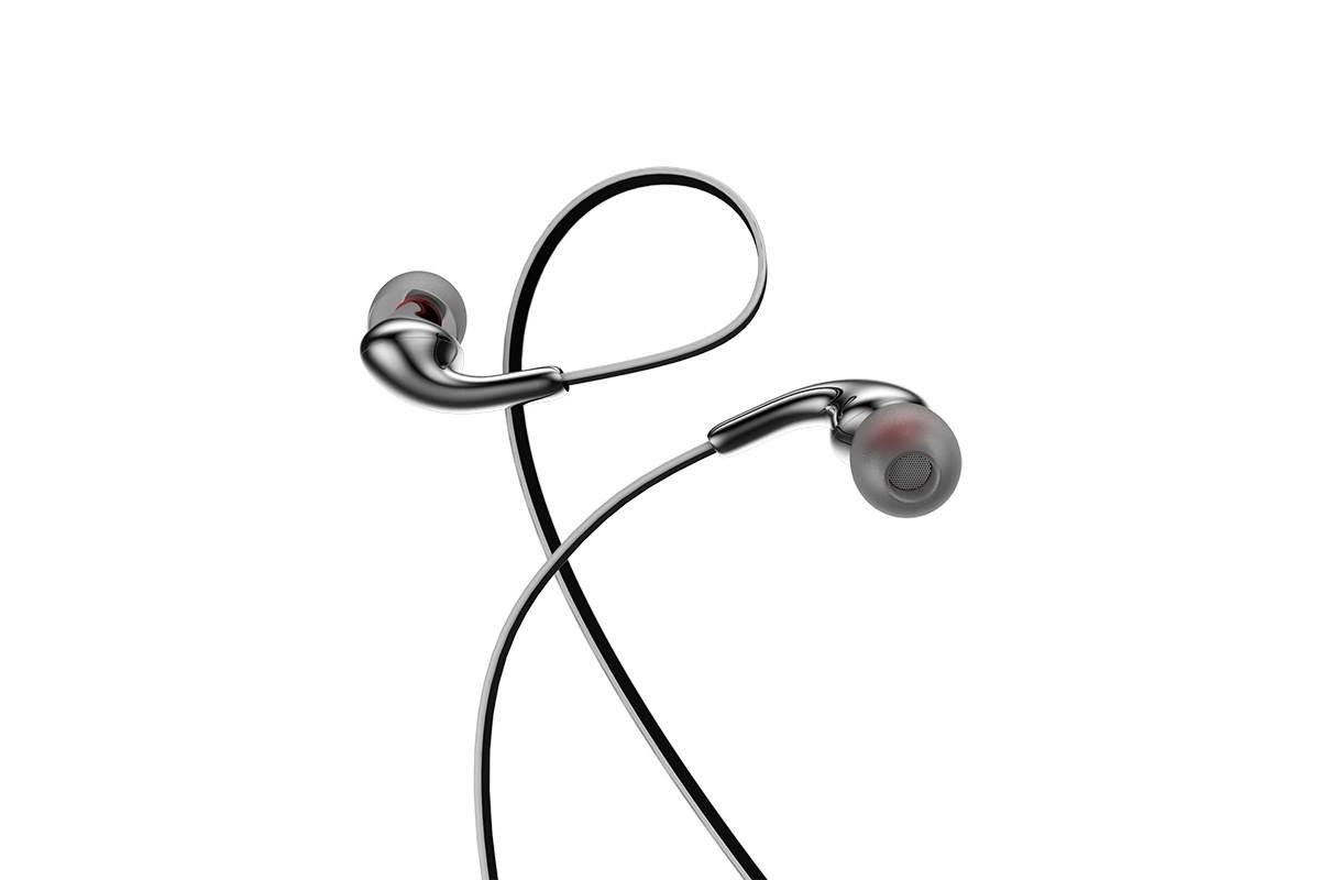 Гарнитура HOCO M30 Glaring universal earphones with microphone 3.5мм серый