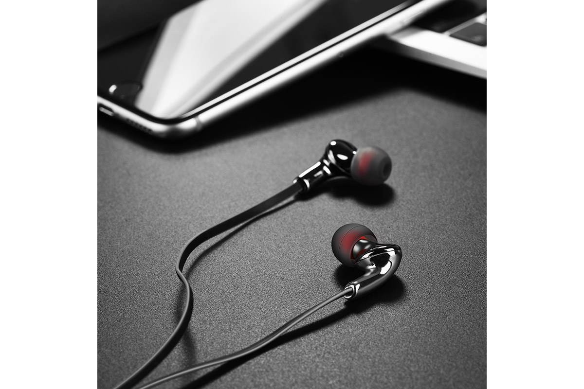 Гарнитура HOCO M30 Glaring universal earphones with microphone 3.5мм серый
