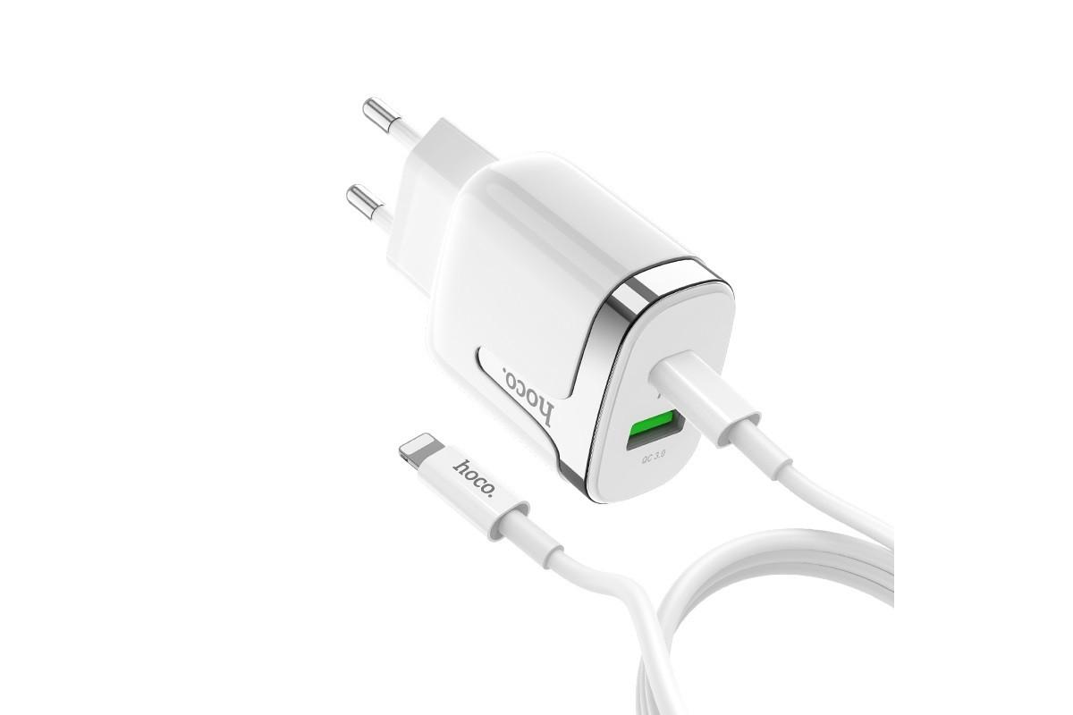 Сетевое зарядное устройство USB 2400mAh HOCO C79A Zeus PD+QC3.0 charger белый