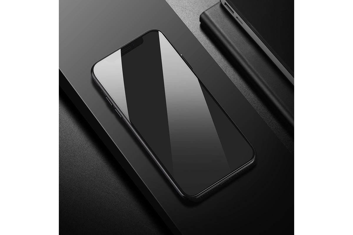 Защитное стекло дисплея iPhone Х/XS (5,8)  HOCO Flash attach Full Screen HD tempered glass  черное