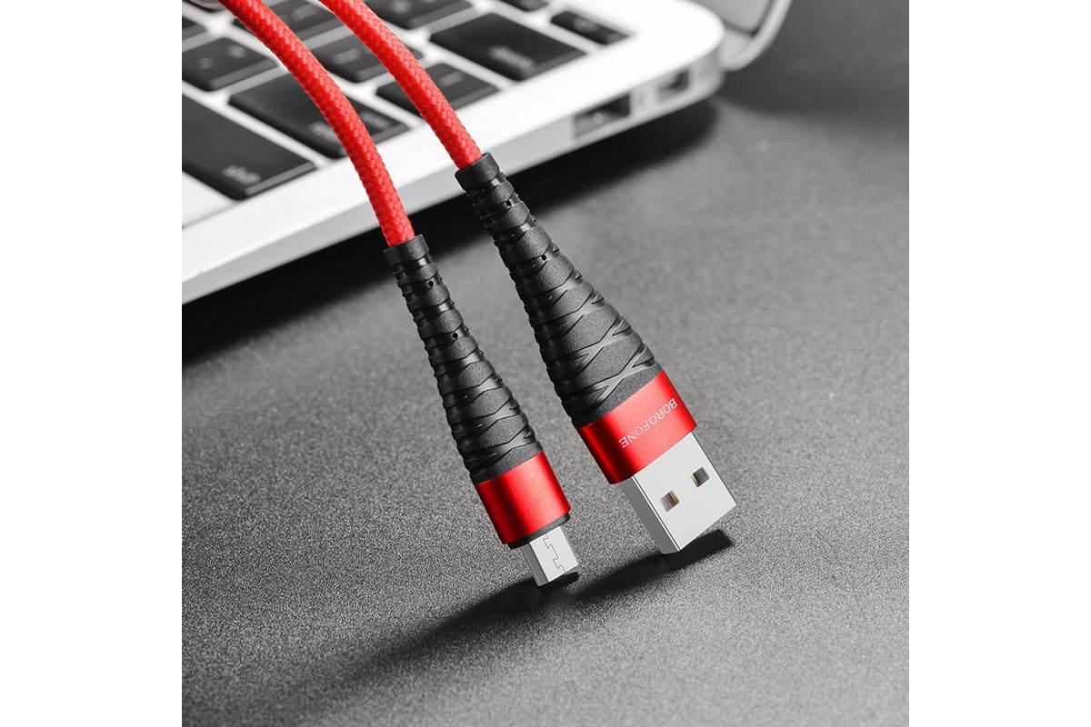 Кабель USB micro USB BOROFONE BX32 Munificent charging data cable for Micro (красный) 1 метр