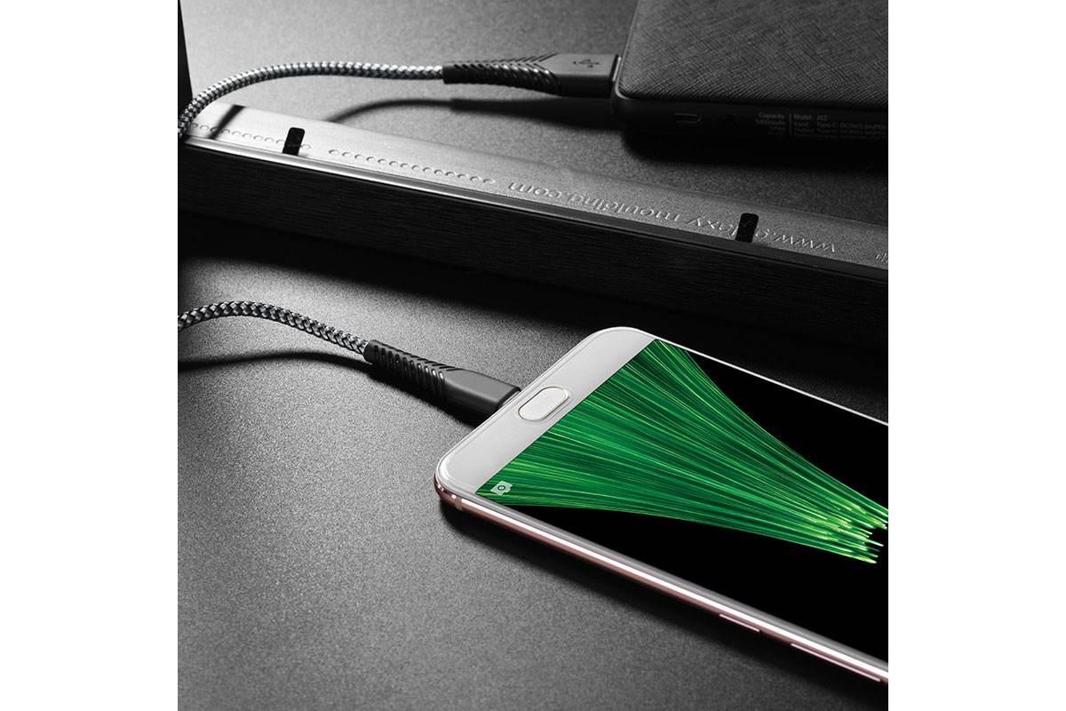 Кабель USB micro USB BOROFONE BX25 Powerful charging data cable (черный) 1 метр