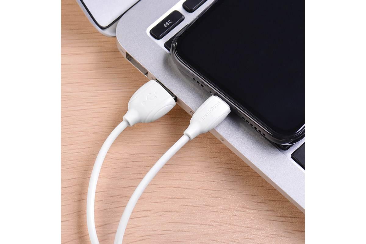 Кабель для iPhone BOROFONE BX19 Benefit charging data cable for Lightning 1м белый