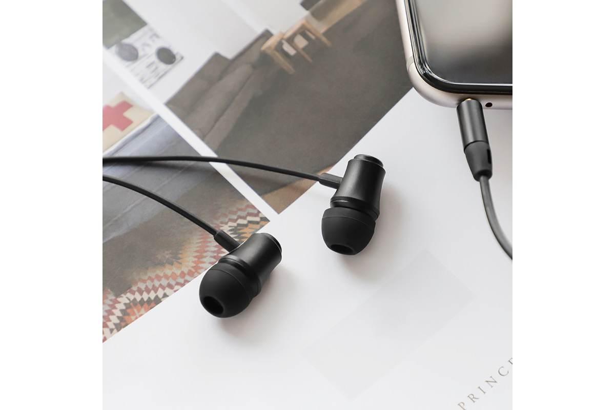 Гарнитура BOROFONE BM29 Gratified Universal earphones 3.5мм цвет черная