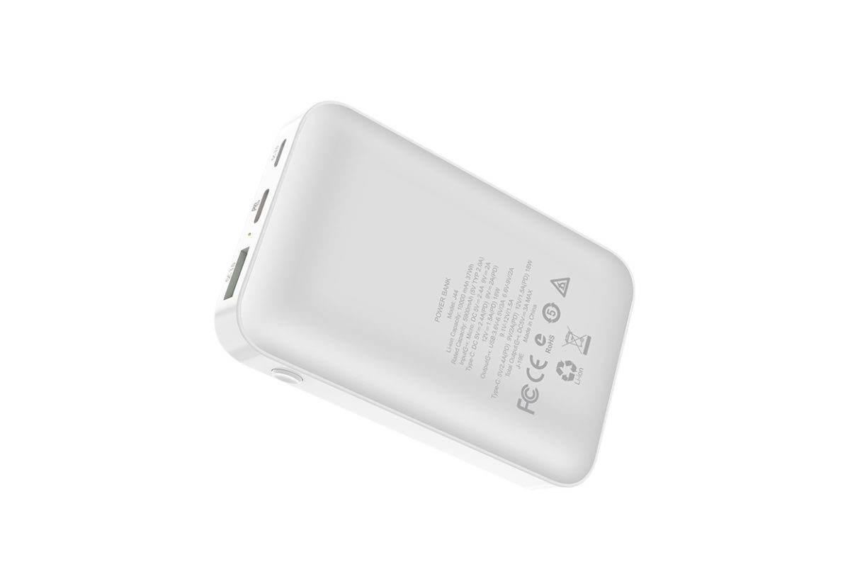 Универсальный дополнительный аккумулятор HOCO  J44 PD+QC3.0 mobile power bank 10000 mAh белый