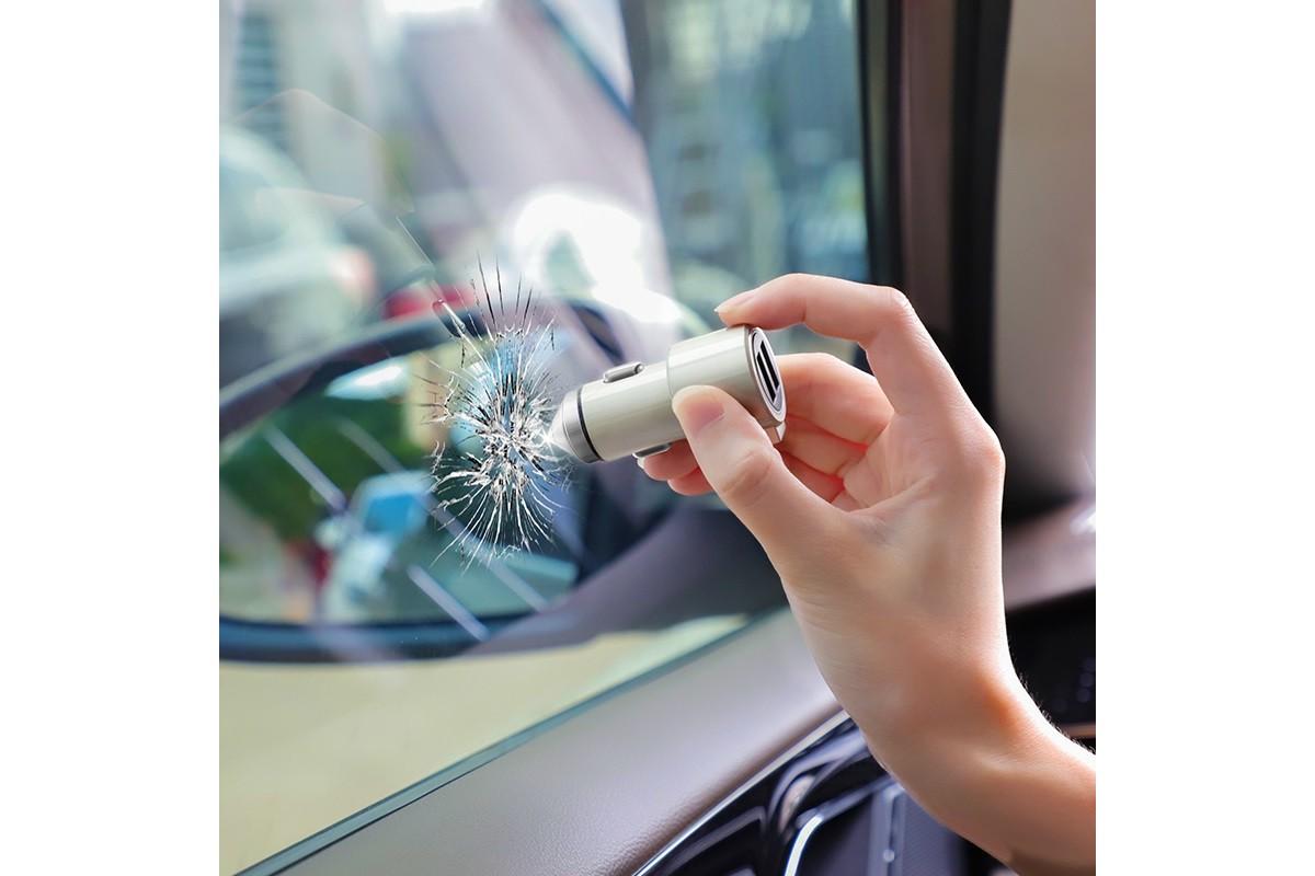 Автомобильное зарядное устройство 2USB HOCO Z33 Sword double port multi-function car charger серый