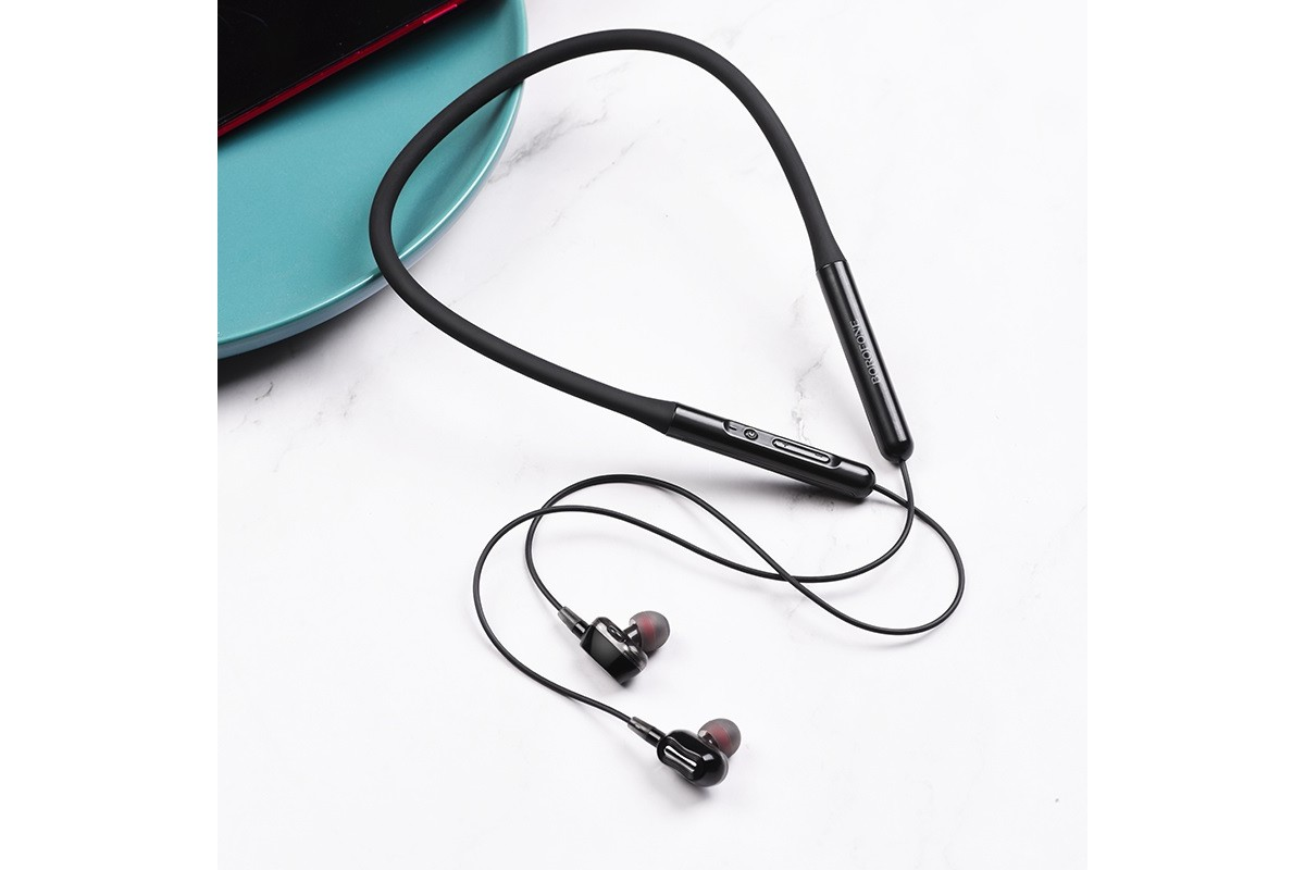 Bluetooth-гарнитура BOROFONE BE31 Peppy double dynamic motion wireless earphonesl 3.5мм цвет черная