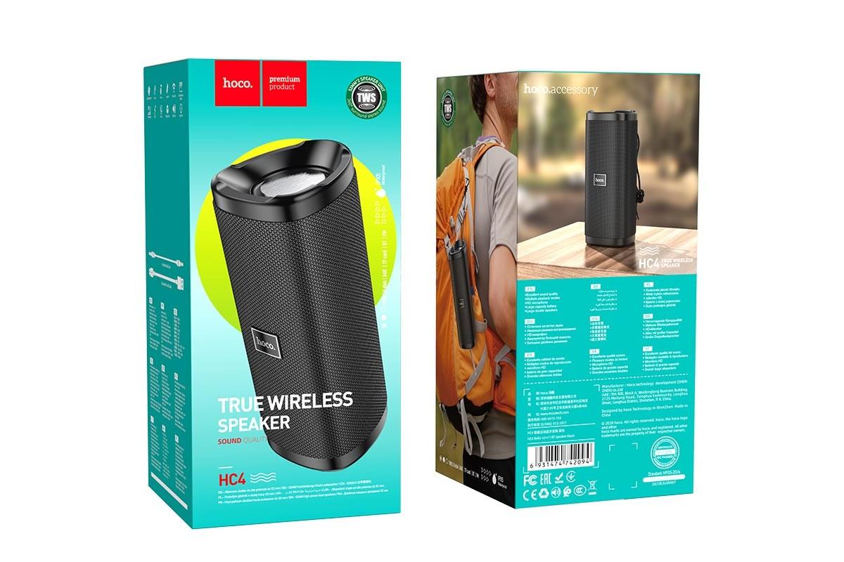 Портативная беспроводная акустика HOCO HC4 Bella sports BT цвет черный
