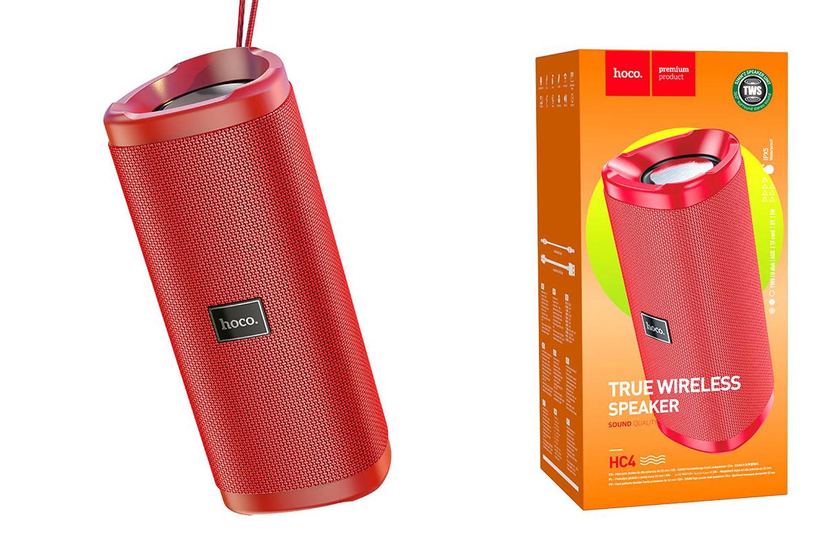 Портативная беспроводная акустика HOCO HC4 Bella sports BT цвет красный