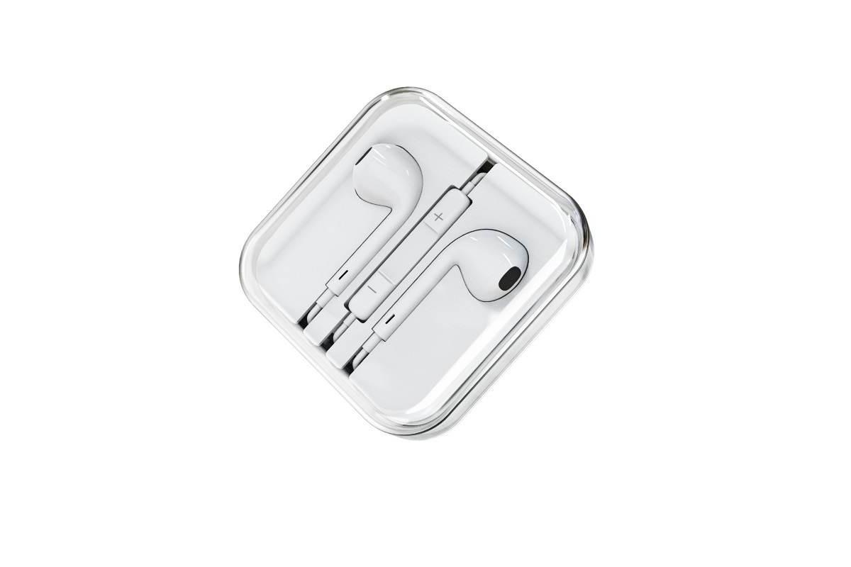 Гарнитура BOROFONE BM30 universal earphones AUX 3.5mm белая (под оригинал)