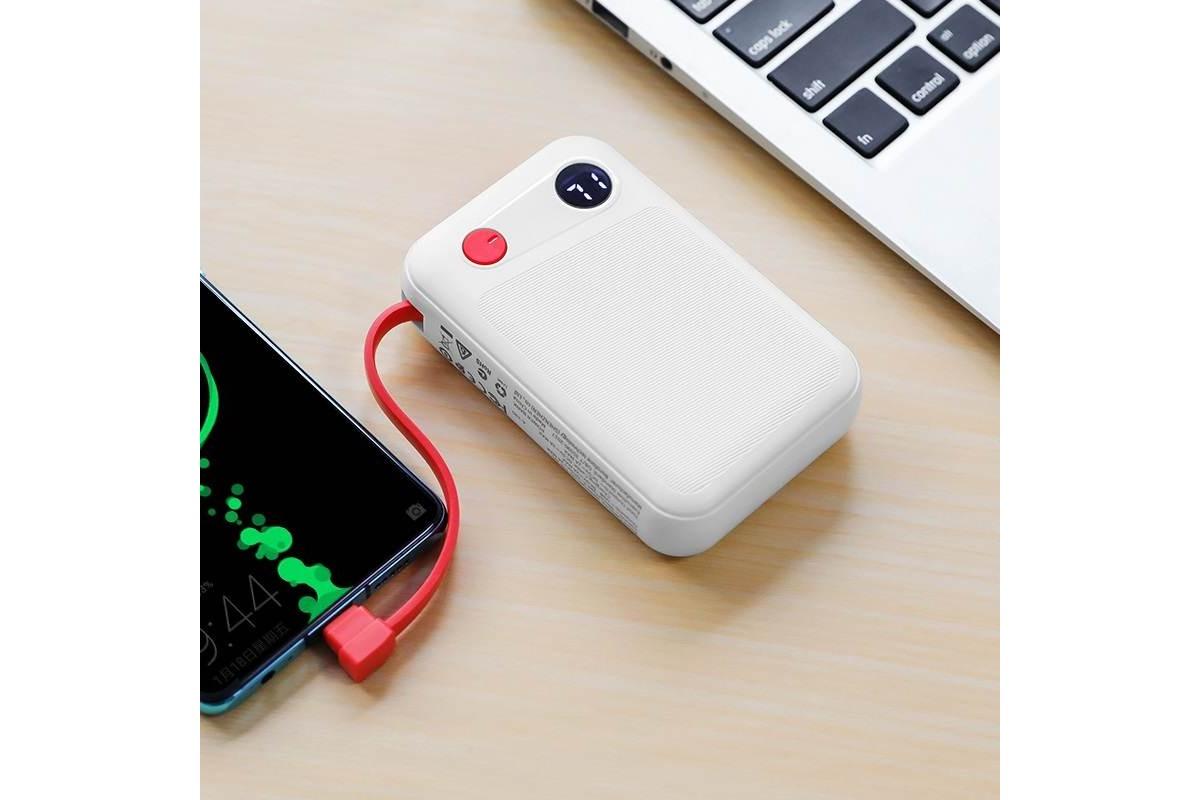 Универсальный дополнительный аккумулятор BOROFONE BT24 Quick Power mobile power bank for Lighting 10000 mAh  белый