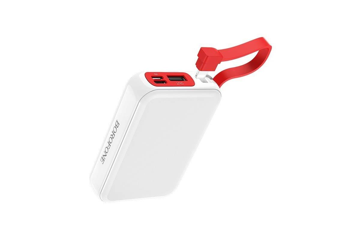 Универсальный дополнительный аккумулятор BOROFONE BT24 Quick Power mobile power bank for Micro 10000 mAh  белый
