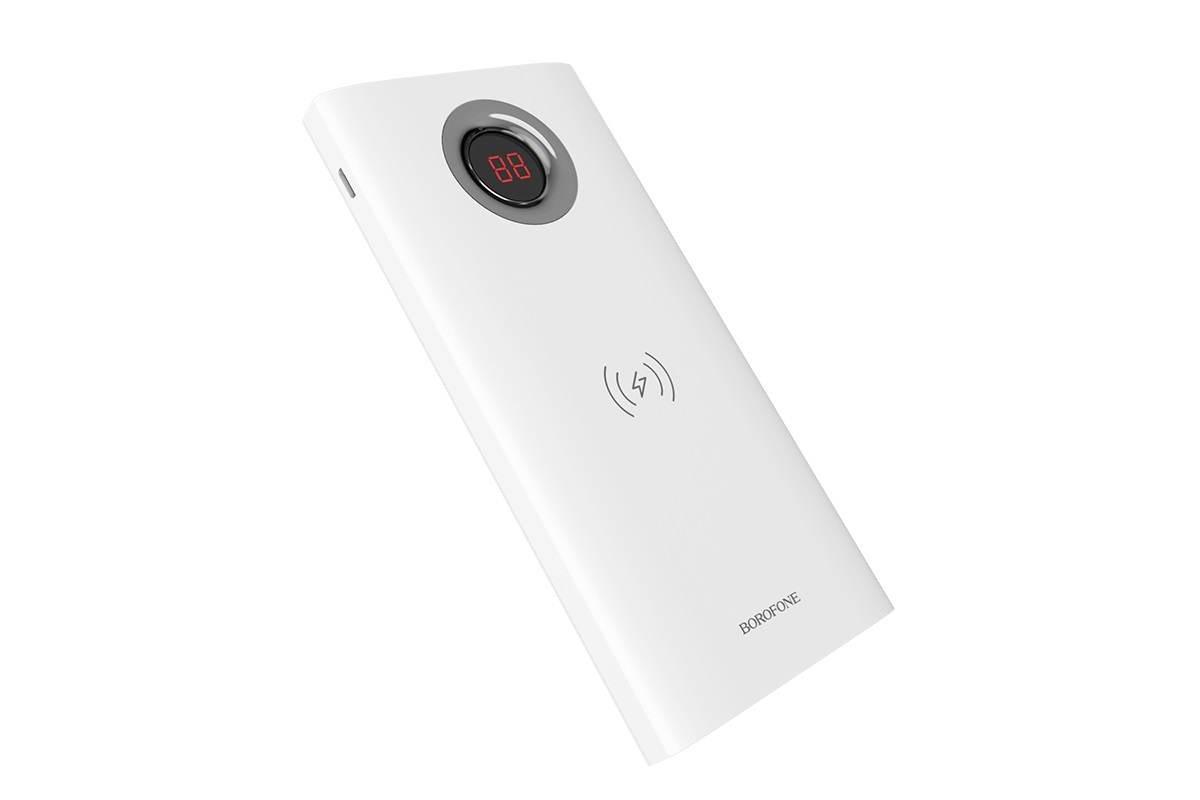 Универсальный дополнительный аккумулятор BOROFONE BT16 AirPower Wireless 10000 mAh  белый (с беспроводной зарядкой)