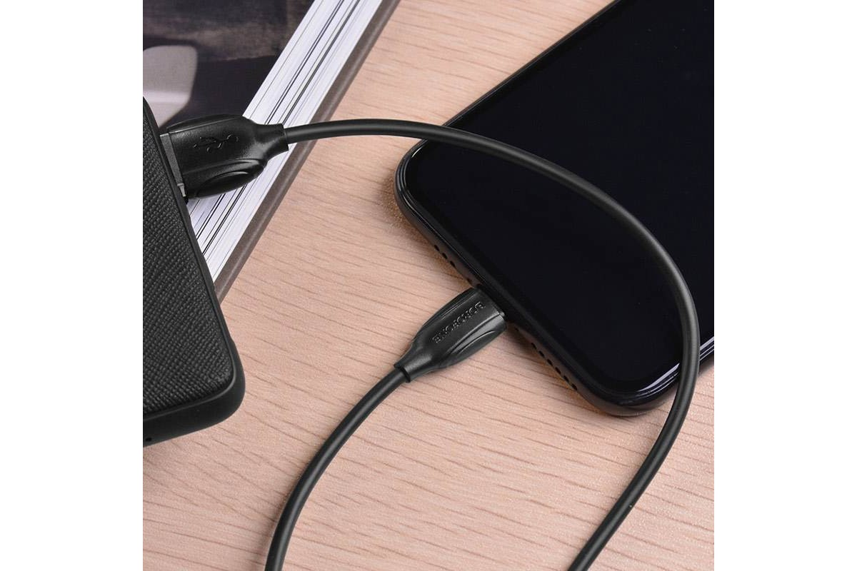 Кабель для iPhone BOROFONE BX19 Benefit charging data cable for Lightning 1м черный