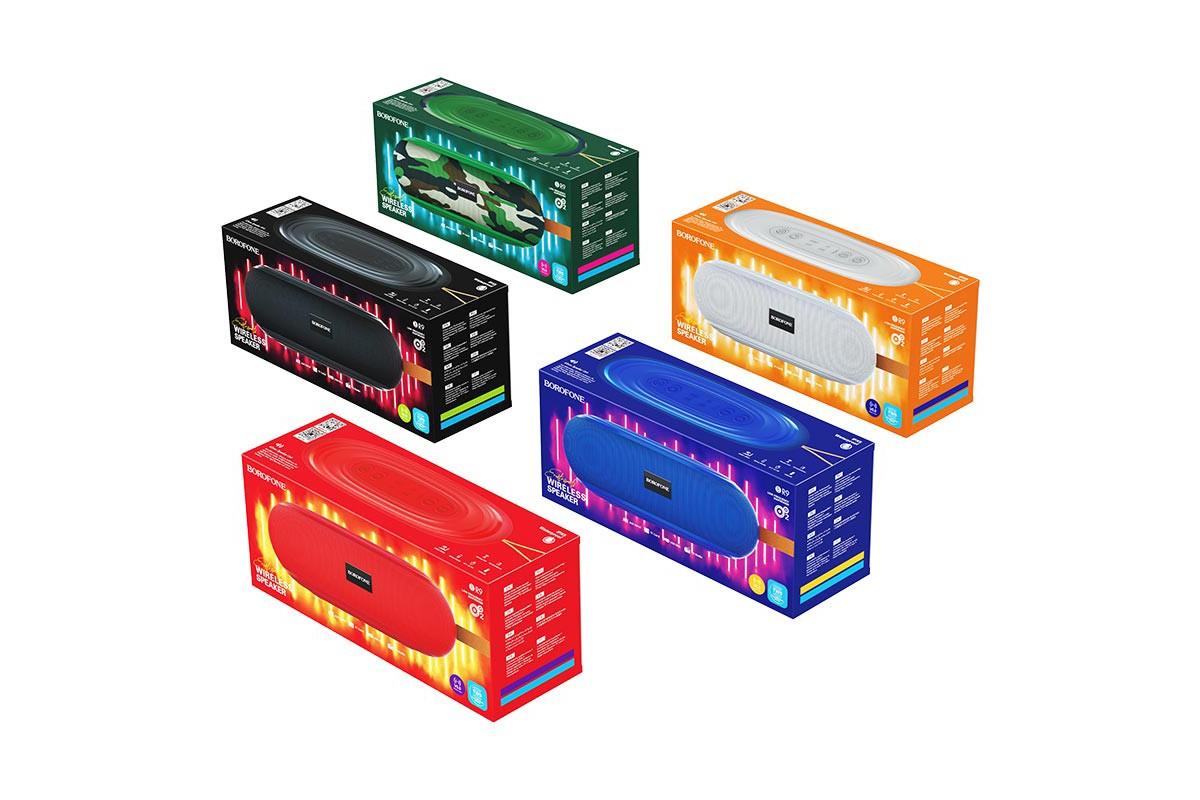 Портативная беспроводная акустика BOROFONE BR9 Erudite sports wireless speaker  цвет красный